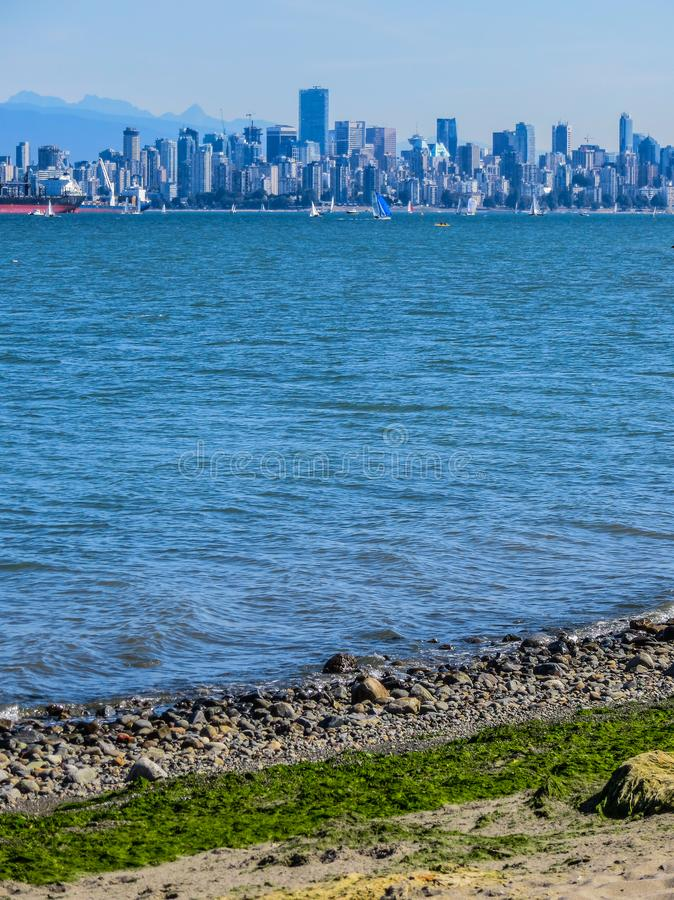 Όμορφη άποψη του Βανκούβερ, Βρετανική Κολομβία, Καναδάς στοκ φωτογραφία