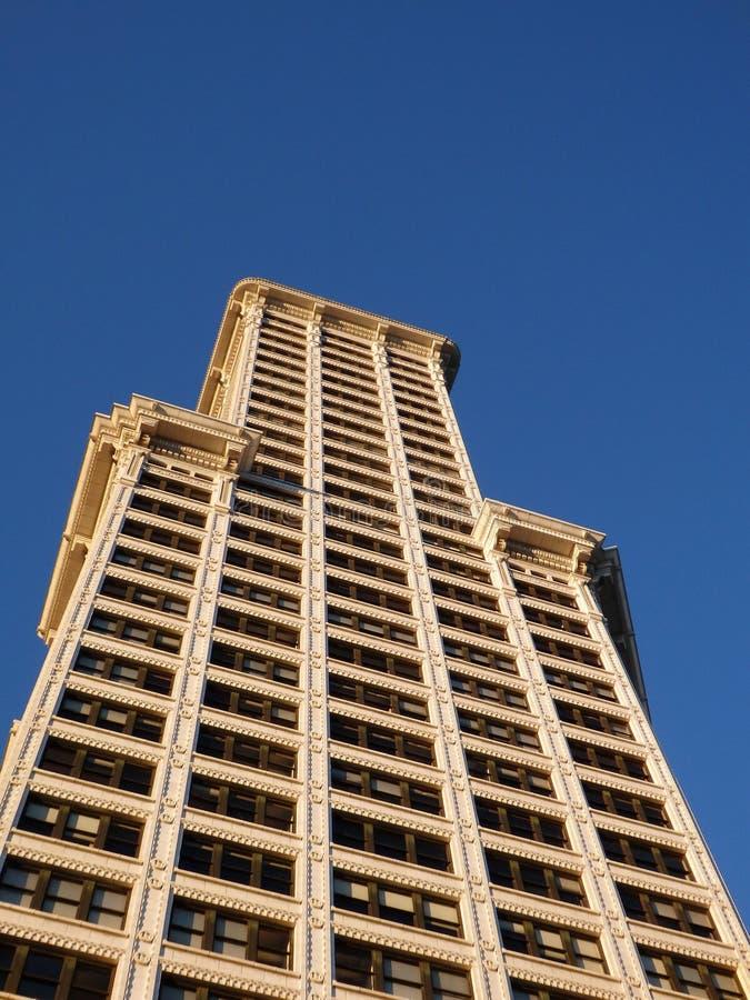 όμορφη άποψη του κτηρίου πύργων Smith στο σούρουπο στοκ φωτογραφίες