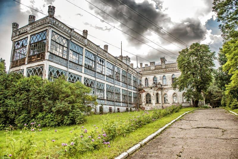 Όμορφη άποψη του ναυπηγείου Sharovsky Castle στοκ εικόνες