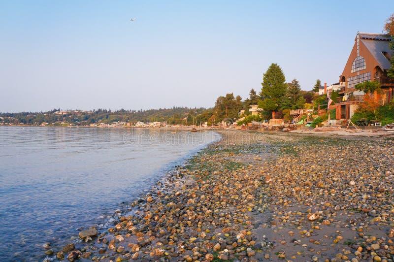 Όμορφη άποψη του ωκεανού Καλιφόρνιας παραλιών Redondo στοκ εικόνα