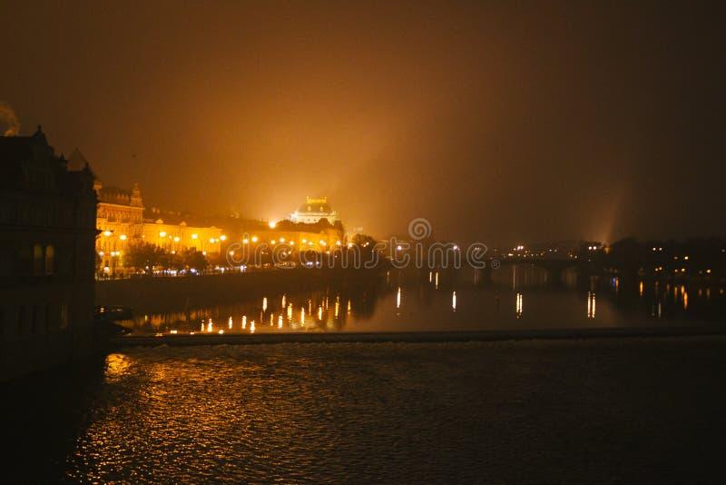 Όμορφη άποψη των οδών της Πράγας στοκ φωτογραφία