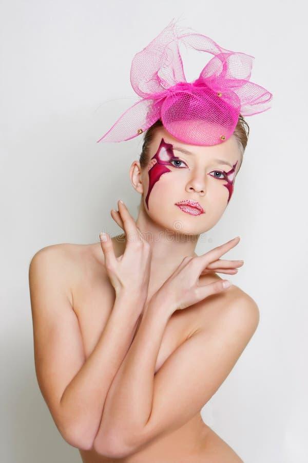 όμορφη έξυπνη γυναίκα visage προ&sig στοκ εικόνες