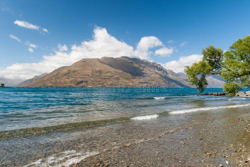 Όμορφη λίμνη Wakatipu, Νέα Ζηλανδία στοκ φωτογραφία με δικαίωμα ελεύθερης χρήσης