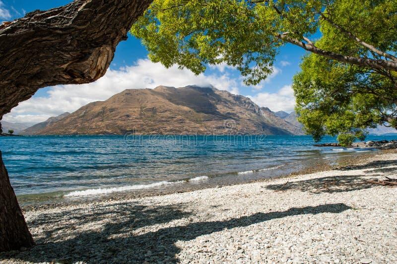 Όμορφη λίμνη Wakatipu, Νέα Ζηλανδία στοκ εικόνες με δικαίωμα ελεύθερης χρήσης
