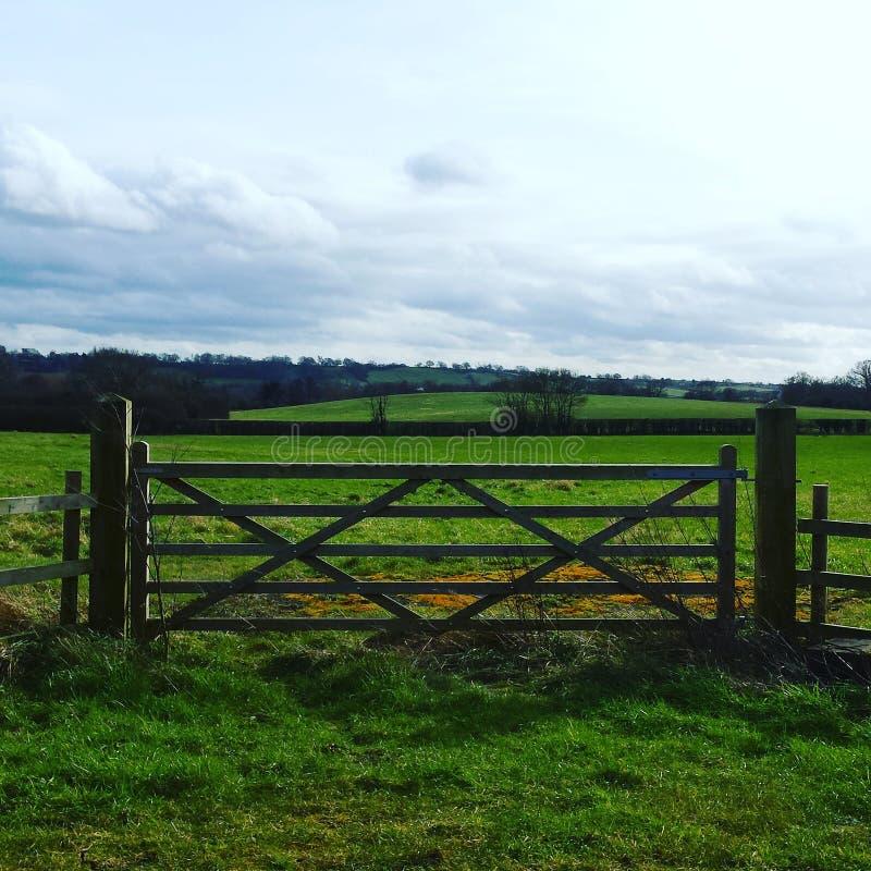 Όμορφη αγγλική πύλη επαρχίας στοκ φωτογραφία με δικαίωμα ελεύθερης χρήσης