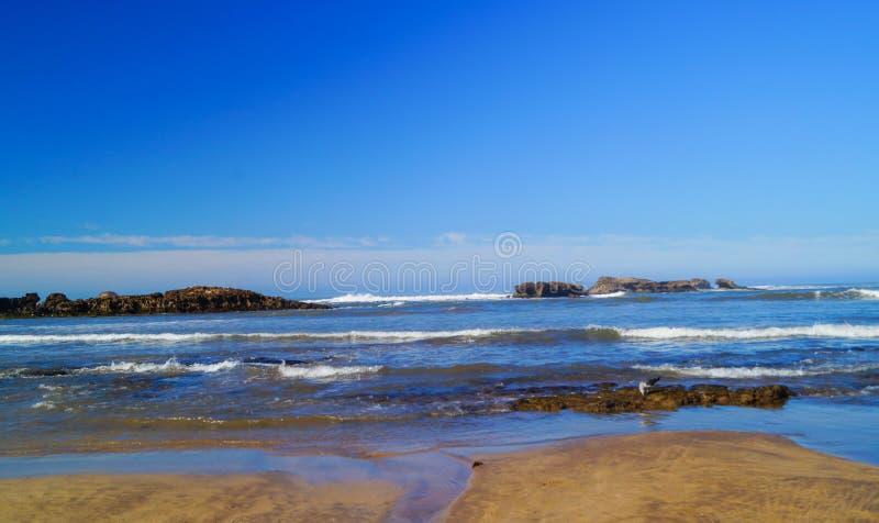 Όμορφη ακτή του Ατλαντικού Ωκεανού Essaouira Μαρόκο στοκ εικόνες