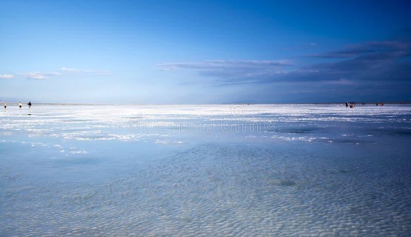 Όμορφη αλατισμένη λίμνη chaka στοκ εικόνες με δικαίωμα ελεύθερης χρήσης