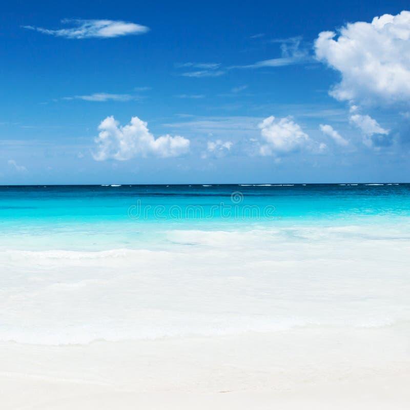 Όμορφη αμμώδης παραλία στοκ εικόνες με δικαίωμα ελεύθερης χρήσης