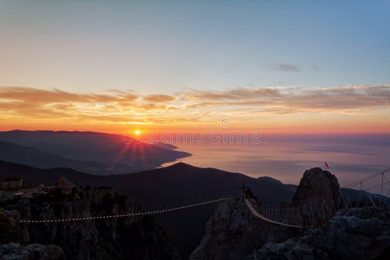 Όμορφη ανατολή πέρα από τη Μαύρη Θάλασσα στοκ φωτογραφίες με δικαίωμα ελεύθερης χρήσης