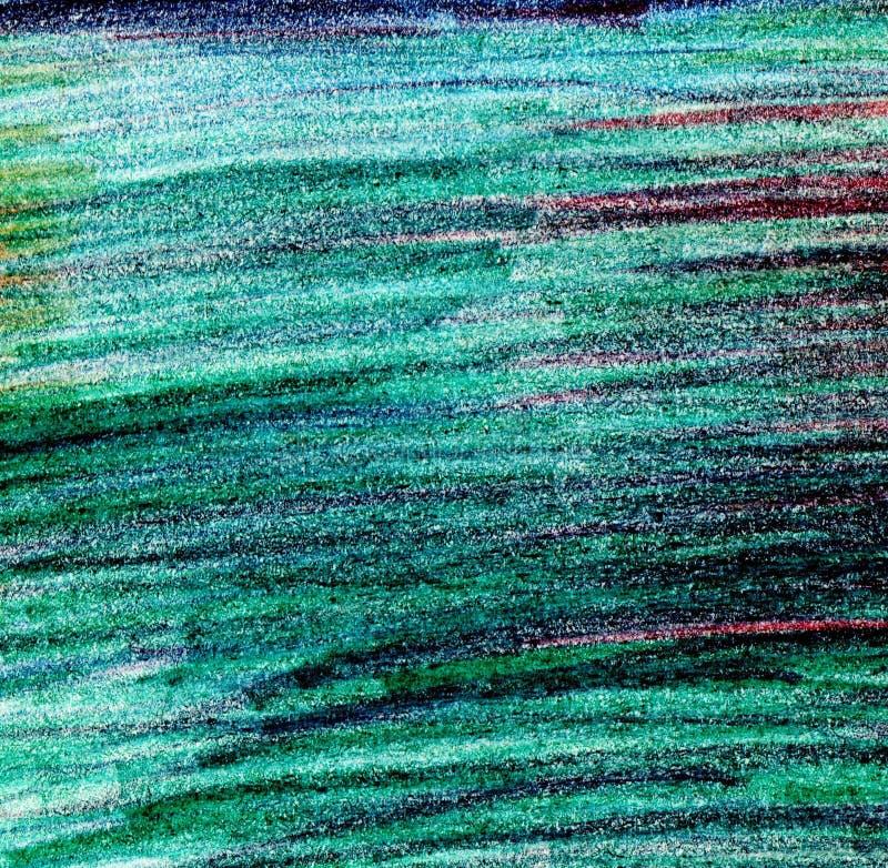 Όμορφη απεικόνιση ζωγραφικής χεριών στο πράσινο χρώμα διανυσματική απεικόνιση