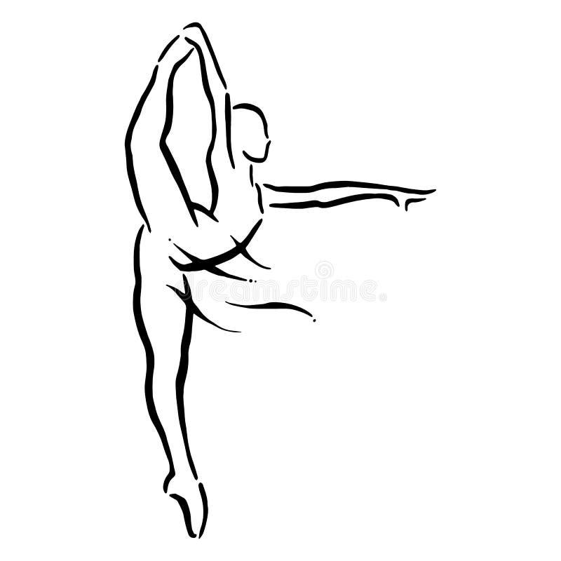 όμορφη απεικόνιση σχεδίου χορευτών μπαλέτου απεικόνιση αποθεμάτων