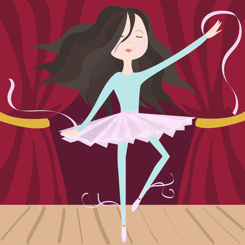 όμορφη απεικόνιση σχεδίου χορευτών μπαλέτου ελεύθερη απεικόνιση δικαιώματος