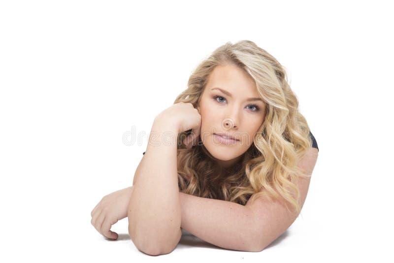 όμορφη απομονωμένη γυναίκ&alpha στοκ φωτογραφίες