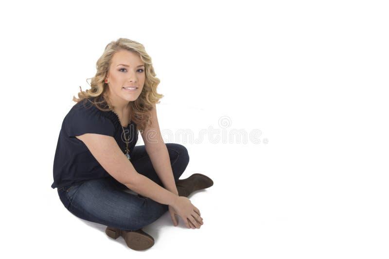 όμορφη απομονωμένη γυναίκ&alpha στοκ φωτογραφία με δικαίωμα ελεύθερης χρήσης