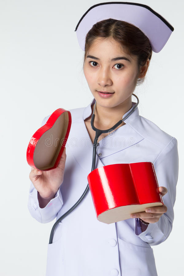 Όμορφη ασιατική νοσοκόμα στοκ φωτογραφίες με δικαίωμα ελεύθερης χρήσης