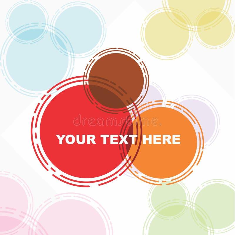 Όμορφη αφίσα ευχετήριων καρτών στο ζωηρόχρωμο αφηρημένο τετράγωνο Όμορφη αφίσα ευχετήριων καρτών στο ζωηρόχρωμο αφηρημένο κύκλο διανυσματική απεικόνιση