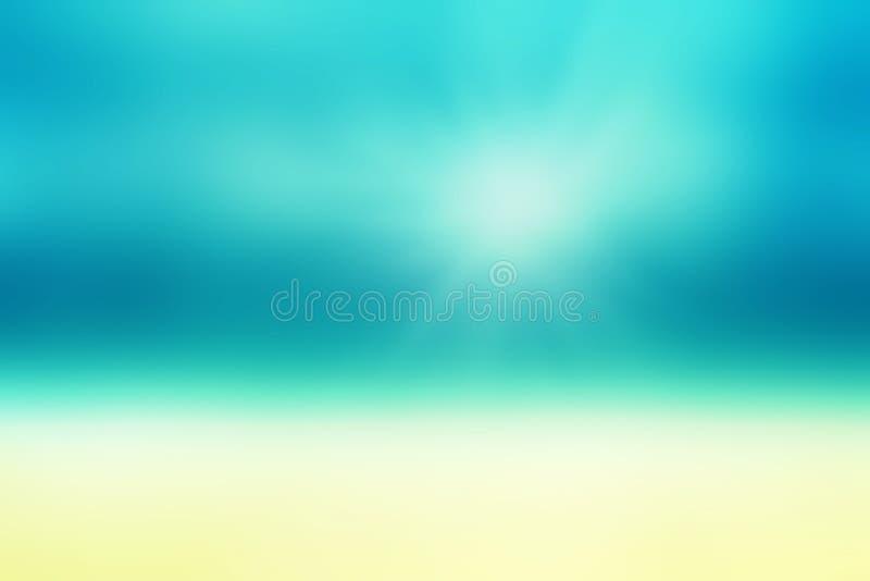 Όμορφη αφηρημένη παραλία και τροπική θάλασσα Αφηρημένο καλοκαίρι θαμπάδων στοκ φωτογραφίες με δικαίωμα ελεύθερης χρήσης