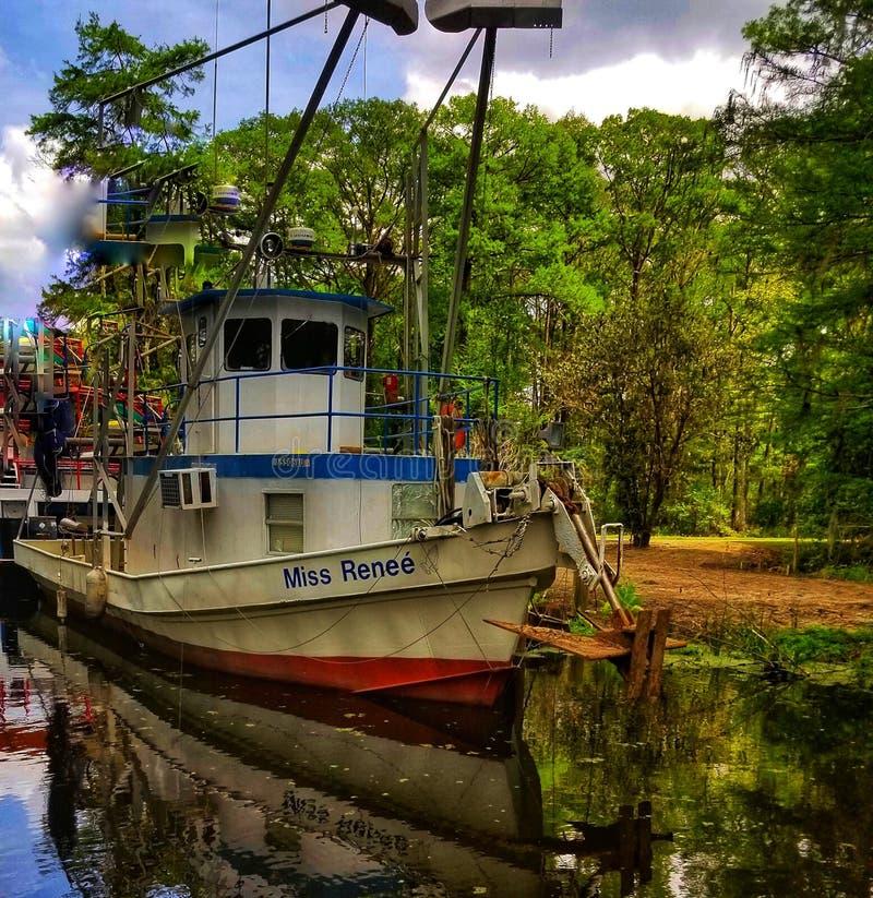 Όμορφη βάρκα γαρίδων στοκ εικόνες