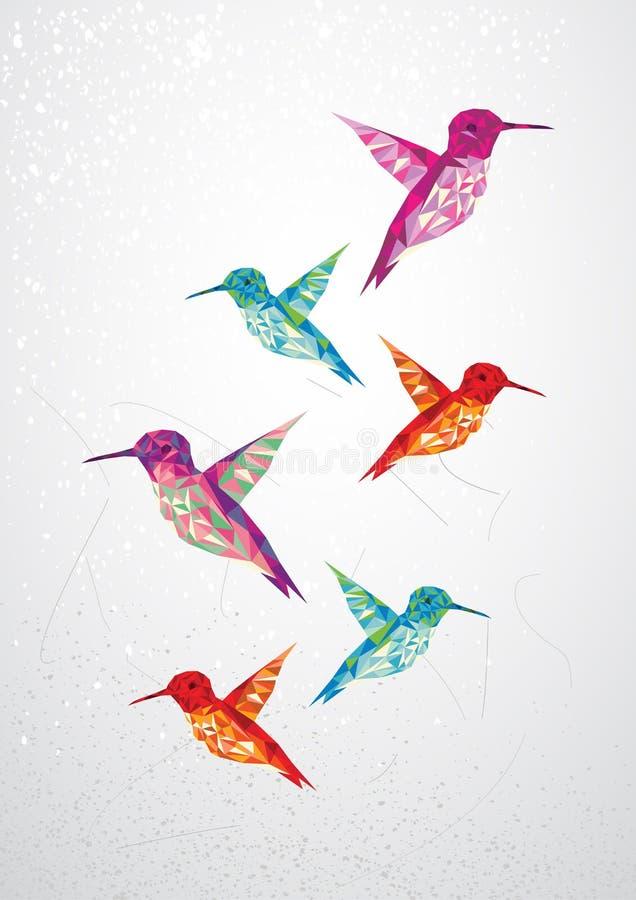 Όμορφη βουίζοντας απεικόνιση πουλιών. διανυσματική απεικόνιση