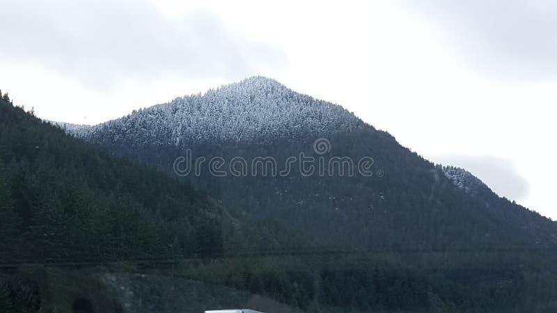 Όμορφη βουνοπλαγιά έξω από τον ποταμό κουκουλών στοκ φωτογραφία
