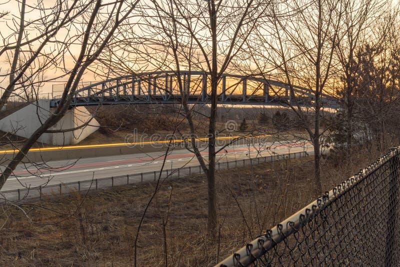 Όμορφη γέφυρα του ίχνους καναλιών του Erie στοκ φωτογραφία με δικαίωμα ελεύθερης χρήσης