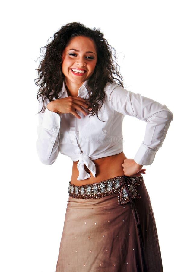 όμορφη γελώντας γυναίκα δ στοκ φωτογραφία με δικαίωμα ελεύθερης χρήσης
