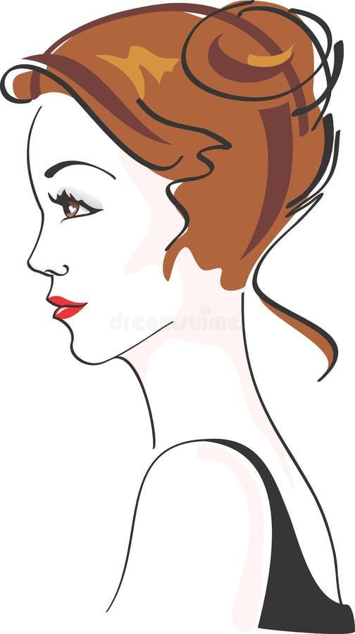 όμορφη γοητευτική γυναίκα διανυσματική απεικόνιση
