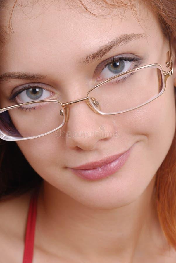 όμορφη γυναίκα γυαλιών στοκ εικόνες