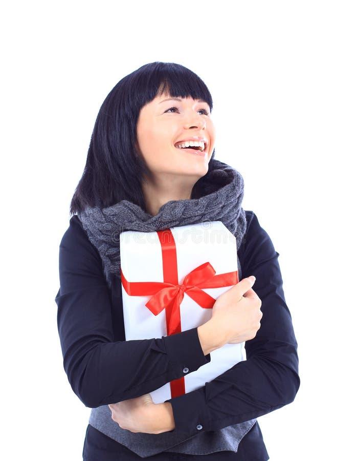 Download όμορφη γυναίκα εκμετάλλευσης επιχειρησιακών δώρων Στοκ Εικόνες - εικόνα από παρόν, επιχείρηση: 22794770