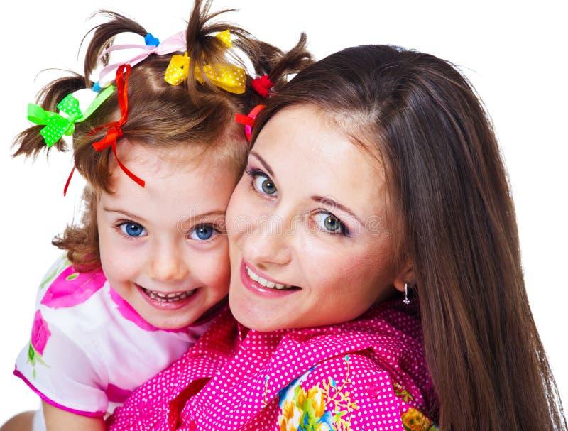 Όμορφη γυναίκα και η κόρη της στοκ εικόνα με δικαίωμα ελεύθερης χρήσης