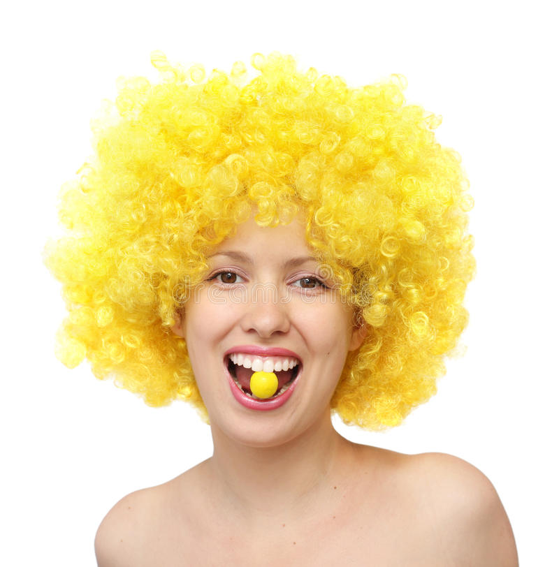 Όμορφη γυναίκα με την καραμέλα στοκ φωτογραφίες με δικαίωμα ελεύθερης χρήσης