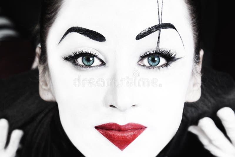όμορφη γυναίκα μπλε ματιών mim στοκ εικόνα με δικαίωμα ελεύθερης χρήσης