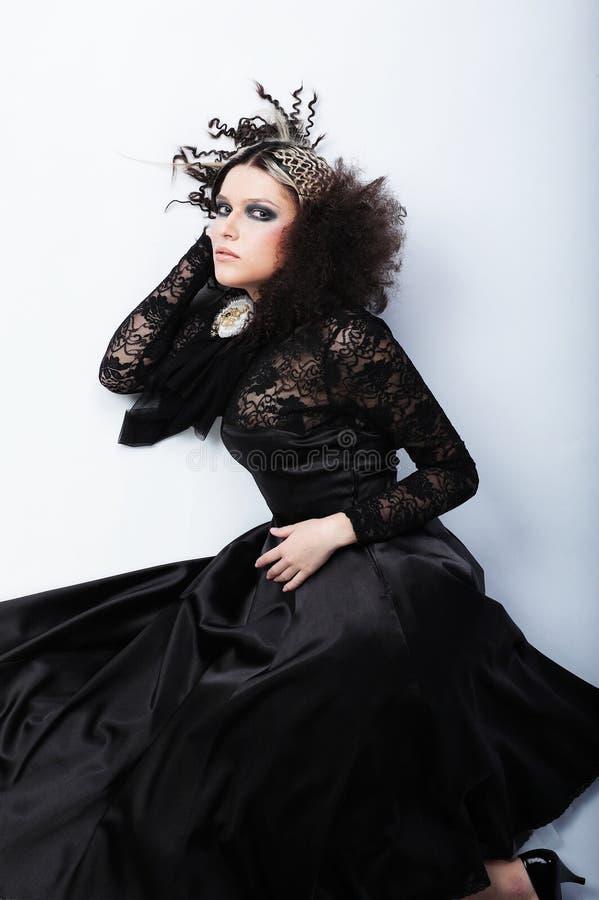 όμορφη γυναίκα μόδας hairstyle στοκ εικόνα με δικαίωμα ελεύθερης χρήσης