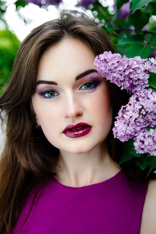 όμορφη γυναίκα μόδας makeup στοκ φωτογραφία