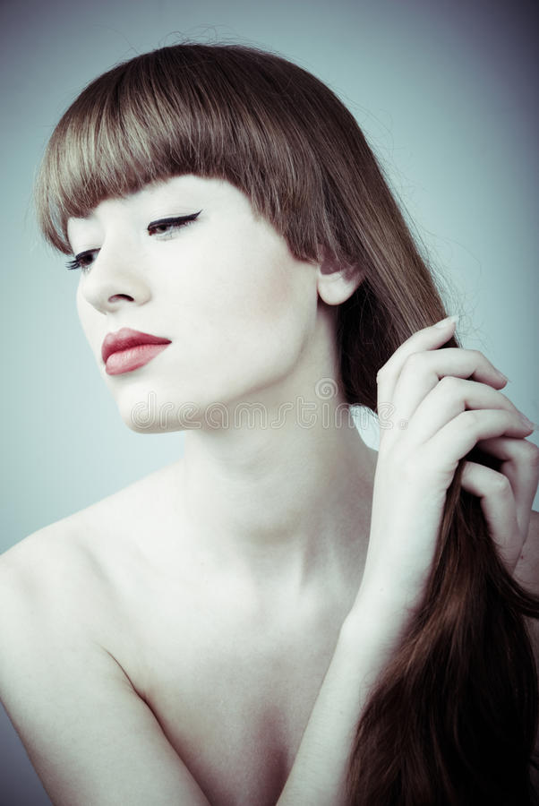 όμορφη γυναίκα πορτρέτου &gam στοκ εικόνες