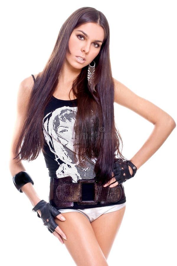 όμορφη γυναίκα πουκάμισω&nu στοκ εικόνες με δικαίωμα ελεύθερης χρήσης