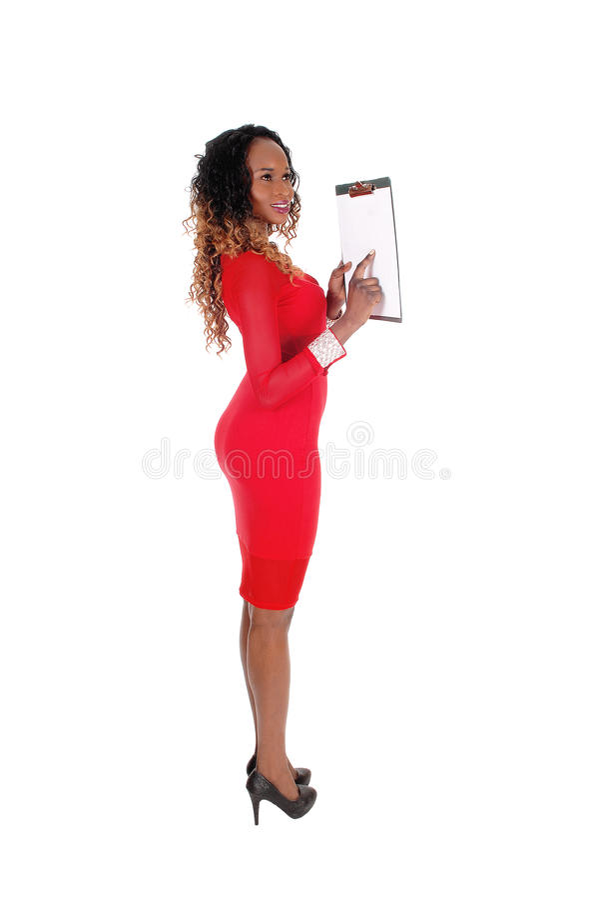 Όμορφη γυναίκα που παρουσιάζει στην περιοχή αποκομμάτων στοκ εικόνες με δικαίωμα ελεύθερης χρήσης