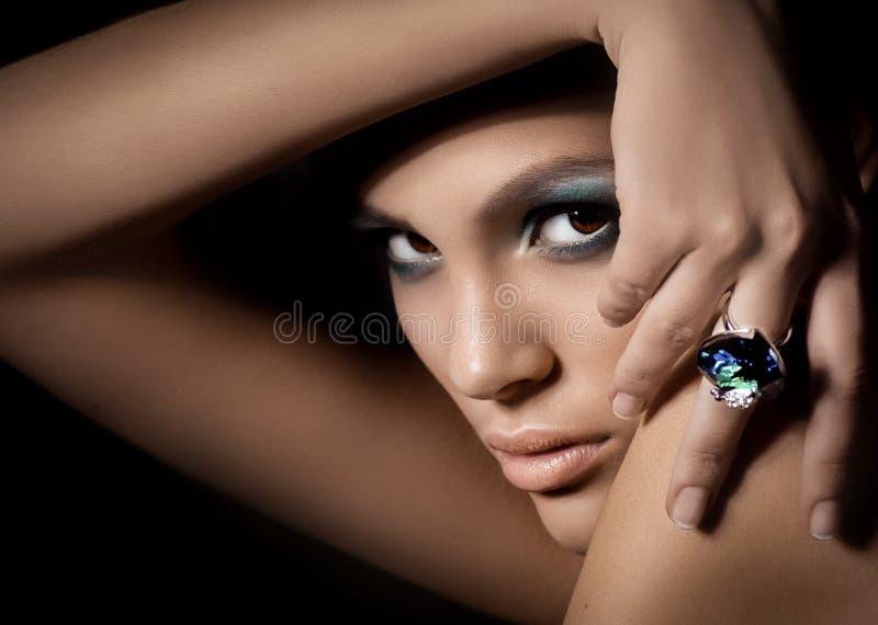 όμορφη γυναίκα προσώπου s στοκ φωτογραφίες
