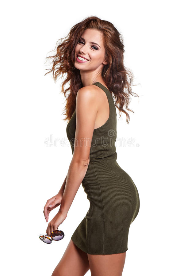 Όμορφη γυναίκα στα ενδύματα φθινοπώρου στοκ φωτογραφίες