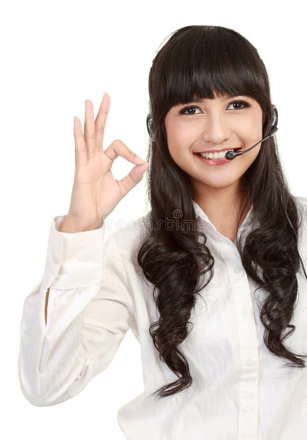 όμορφη γυναίκα υπηρεσιών χ& στοκ εικόνα με δικαίωμα ελεύθερης χρήσης