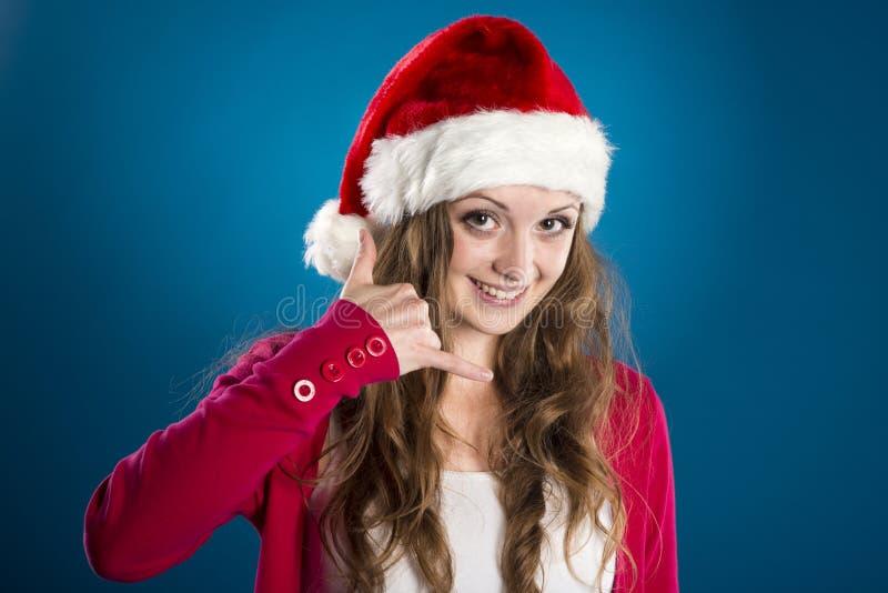 Όμορφη γυναίκα Χριστουγέννων στοκ εικόνες