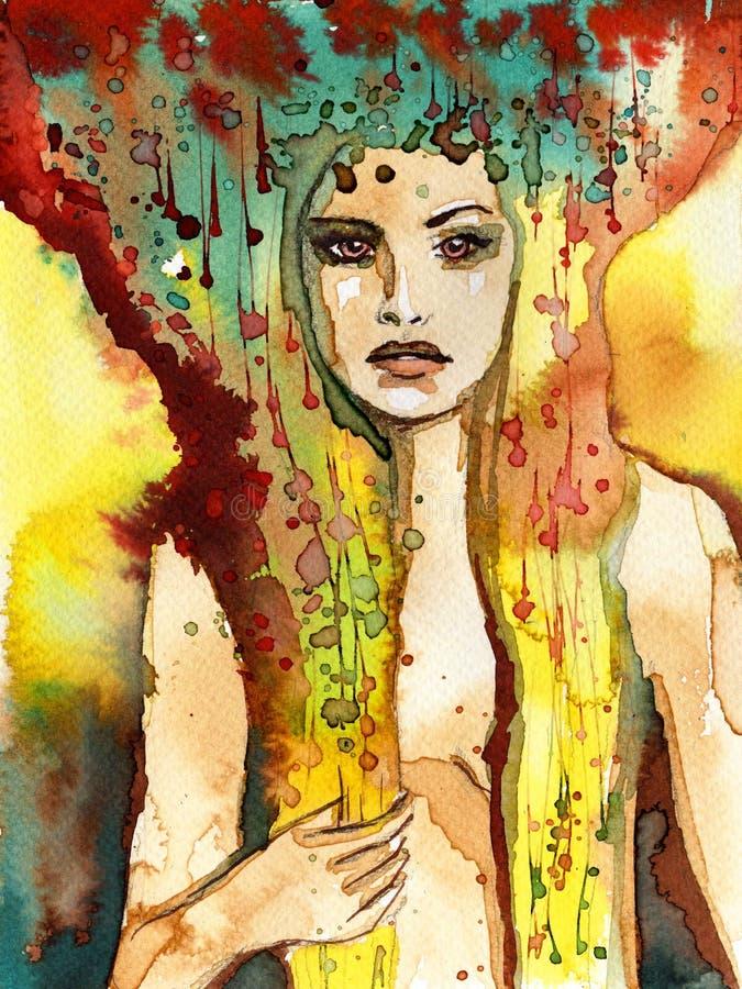 Όμορφη γυναίκα διανυσματική απεικόνιση