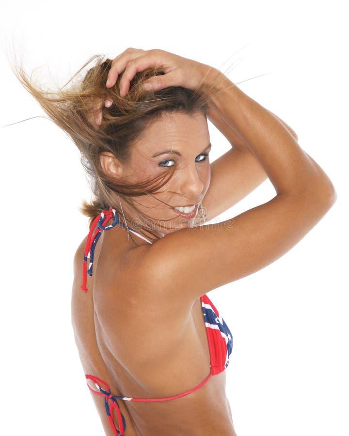 Όμορφη γυναίκα bikini στοκ εικόνες