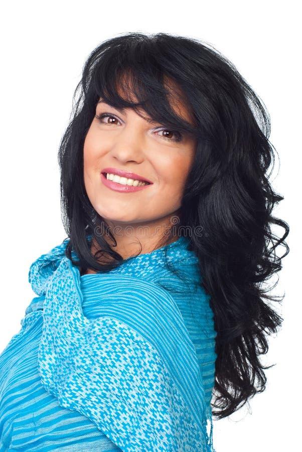 Όμορφη γυναίκα brunette hairstyle στοκ εικόνες