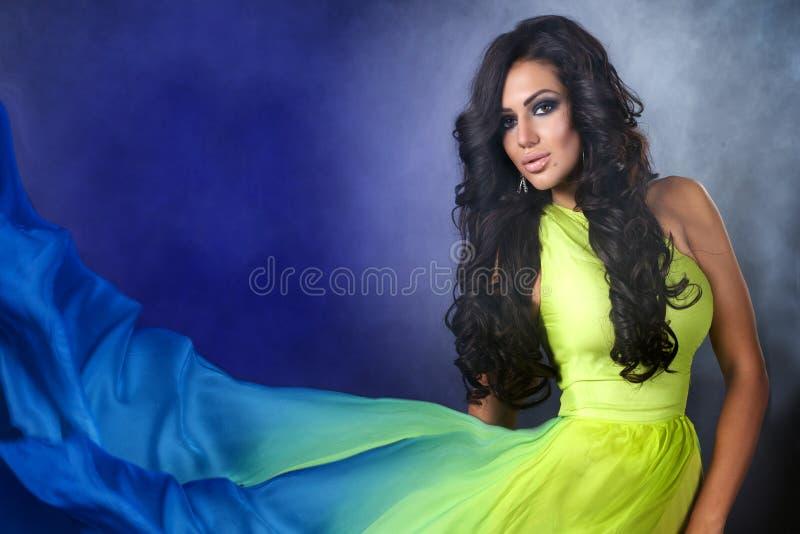 Όμορφη γυναίκα brunette Uxurious στοκ εικόνες