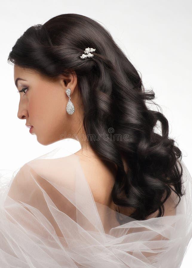 Download όμορφη γυναίκα hairstyle στοκ εικόνες. εικόνα από σκουλαρίκι - 22787254