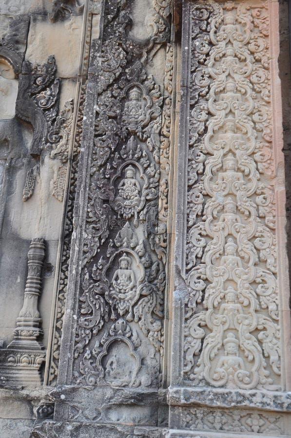 Όμορφη γλυπτική πετρών του ναού Phnom Bakheng στοκ φωτογραφία με δικαίωμα ελεύθερης χρήσης