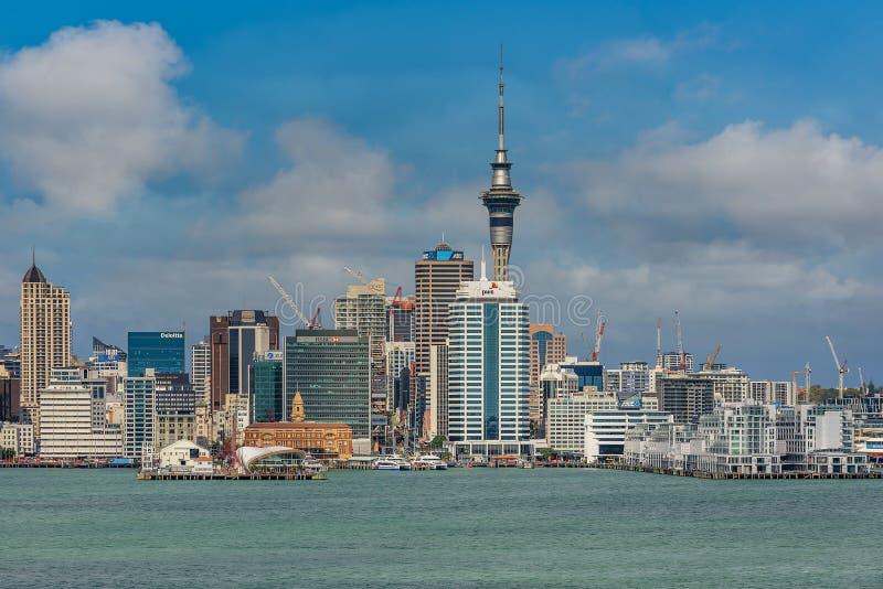 Όμορφη εικονική παράσταση πόλης του Ώκλαντ, Νέα Ζηλανδία στοκ εικόνα