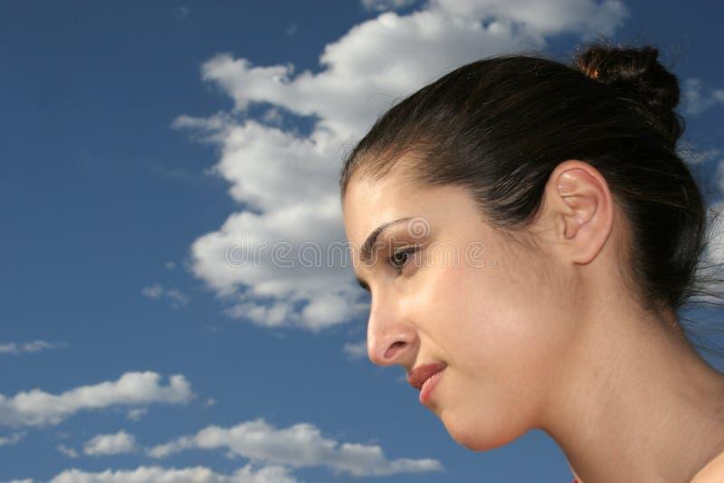όμορφη ελληνική γυναίκα στοκ εικόνα με δικαίωμα ελεύθερης χρήσης