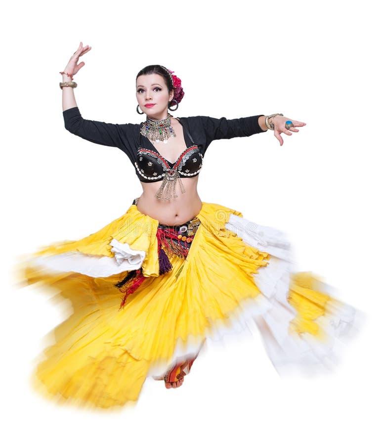 Όμορφη εξωτική γυναίκα χορευτών κοιλιών φυλετική στοκ εικόνα με δικαίωμα ελεύθερης χρήσης